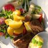 Fransk potatissallad med rådjursbiffar och kryddsmör - en vecka med matkasse