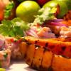 Ceviche och sötpotatis - en magisk kombination