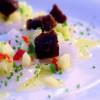 Smörstänkt pilgrimscarpaccio med underbar smakpalett