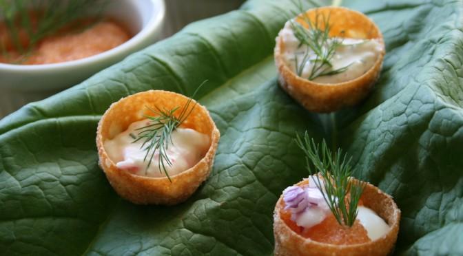 Cavafrukost med löjrom och skagenröra