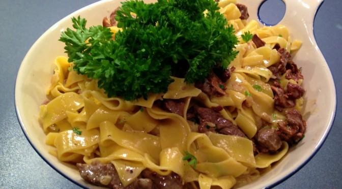 Pasta mums – med oxfile, tryffel och kantarell
