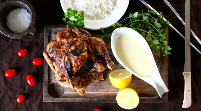 Citronstoppad kyckling och gräddsås med ton av ingefära