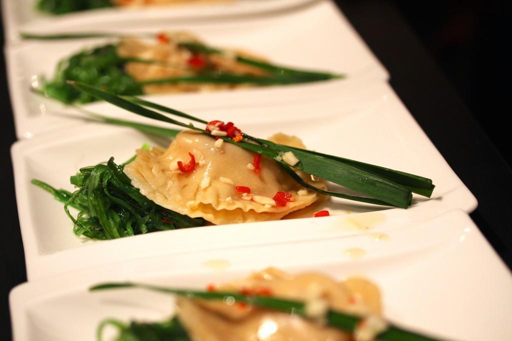 dumplings med kungskrabba