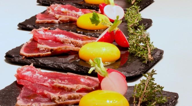Tonfiskcarpaccio i två variationer – fredagsmat