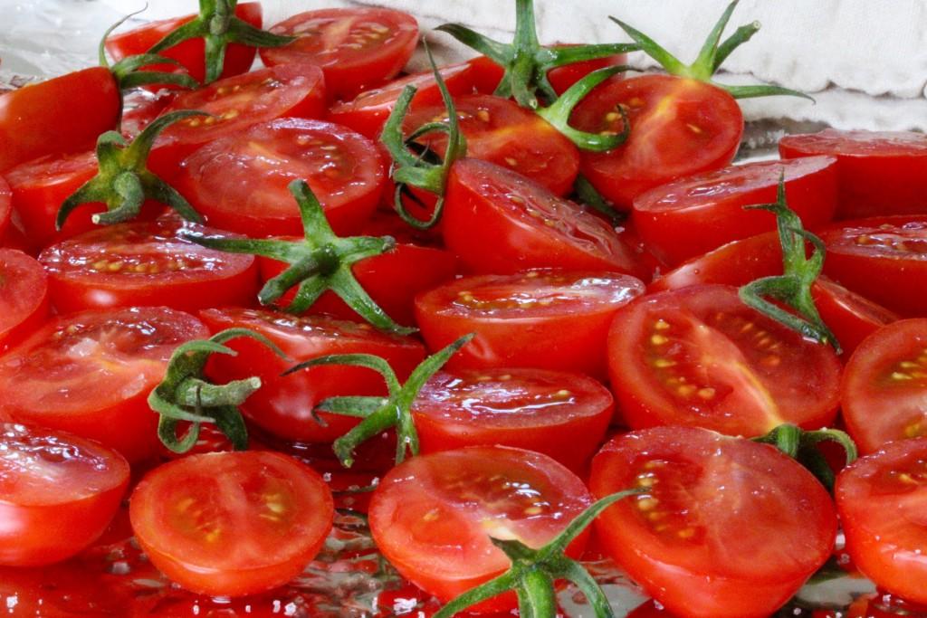 tomaterna innan rostning