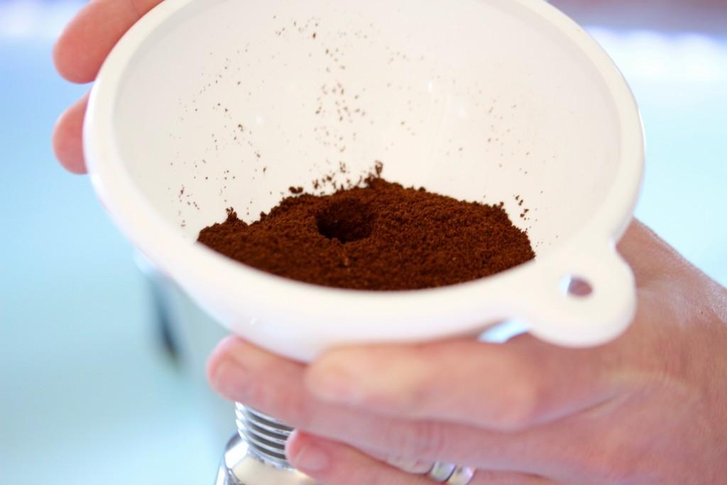 kaffe åker ned i sifonen