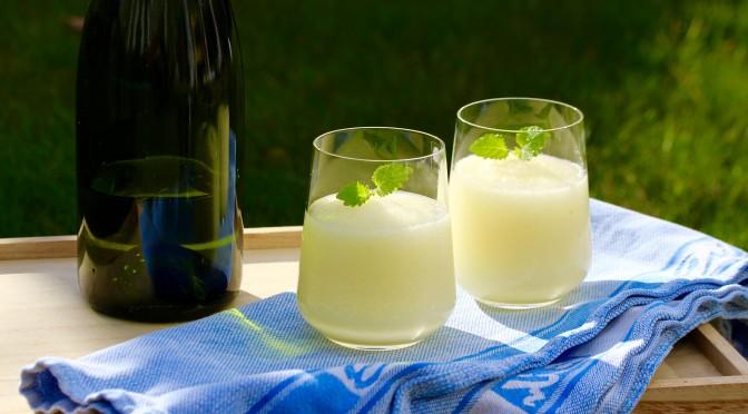 Champagne lemon slush – fredagsdrinken