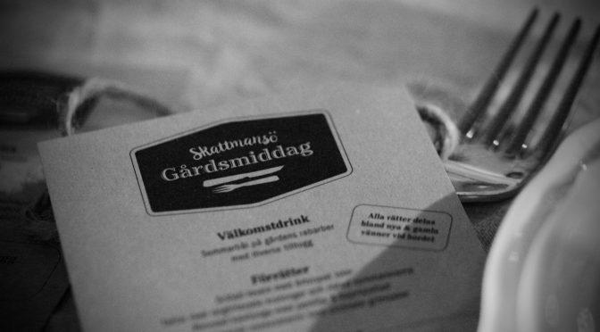 Gårdsmiddag med Scan och restaurang AG i Skattmansö