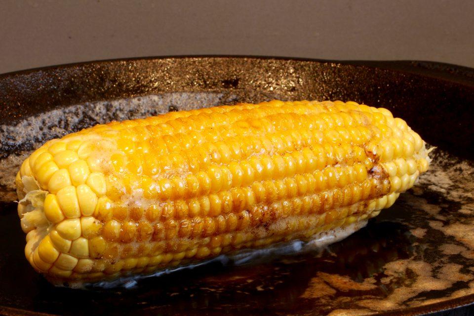 färsk majs innan sous vide