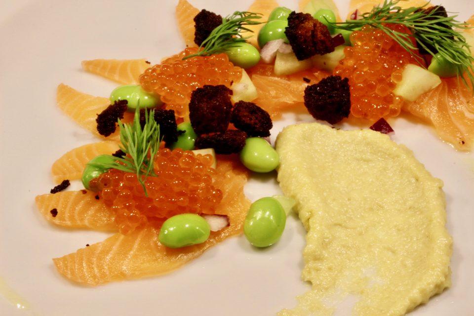 Sashimi av salmalax